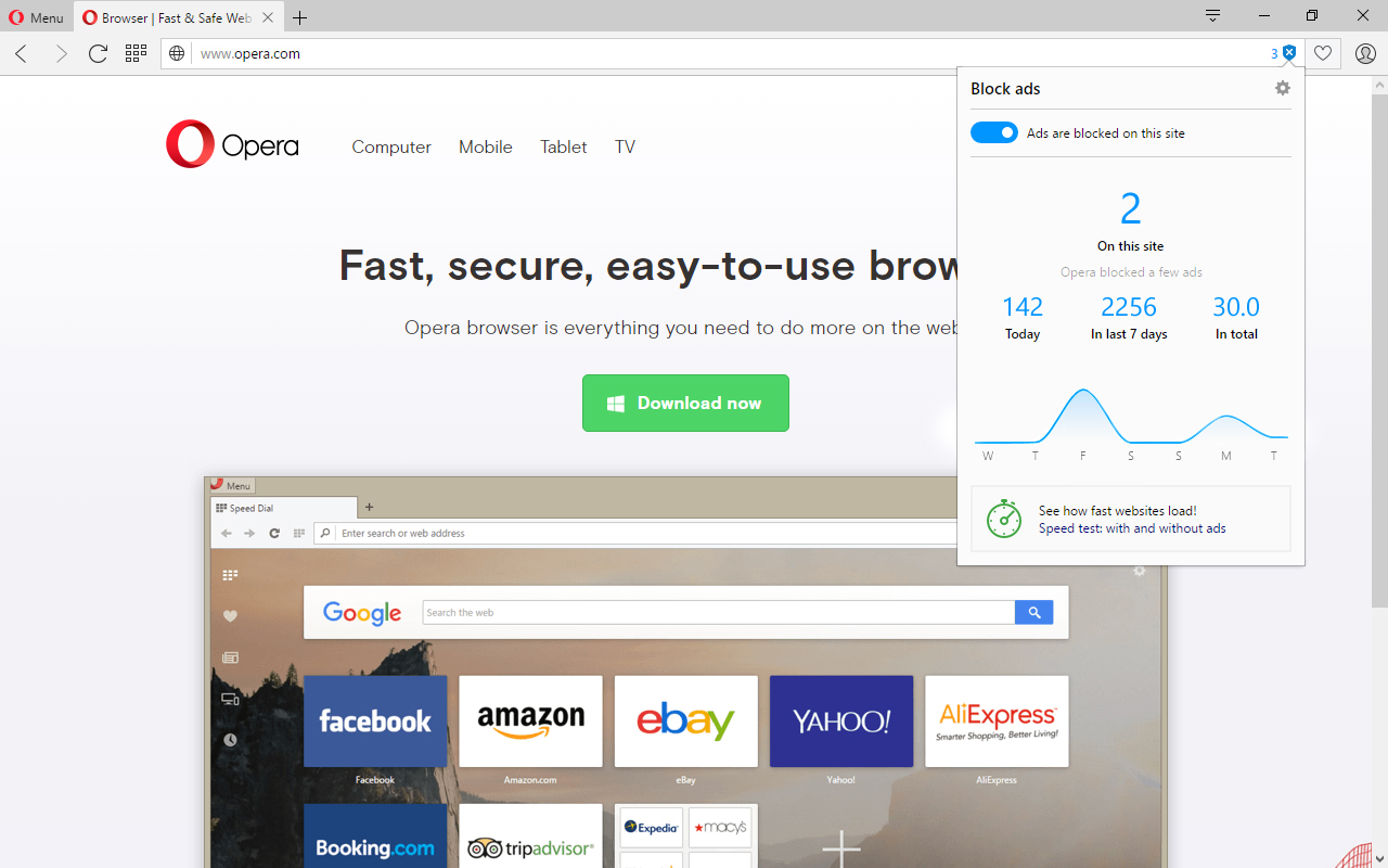free download opera browser for pc