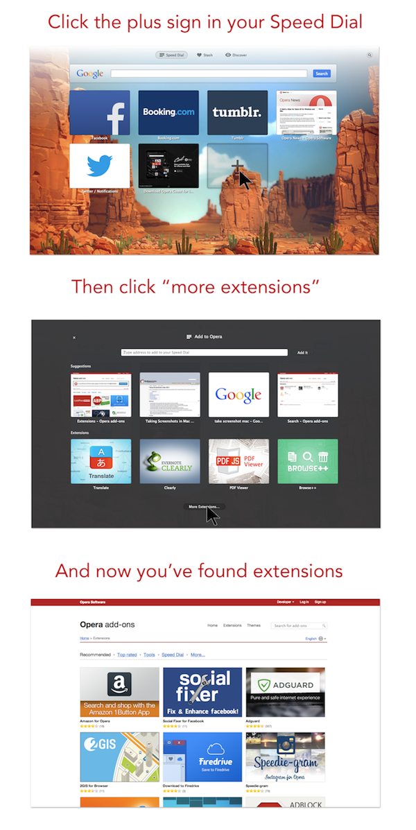 How to customize Opera with extensions
