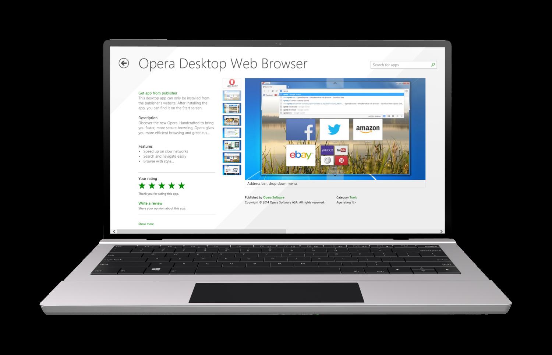 Opera Desktop on Windows Phone