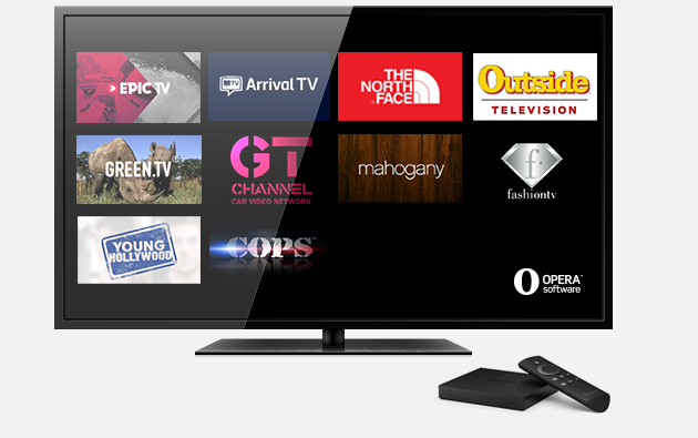 10 apps in a snap by Opera for Smart TVs