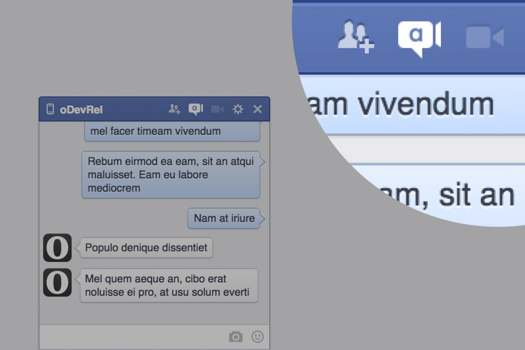 Video chat extension on Facebook and Twitter