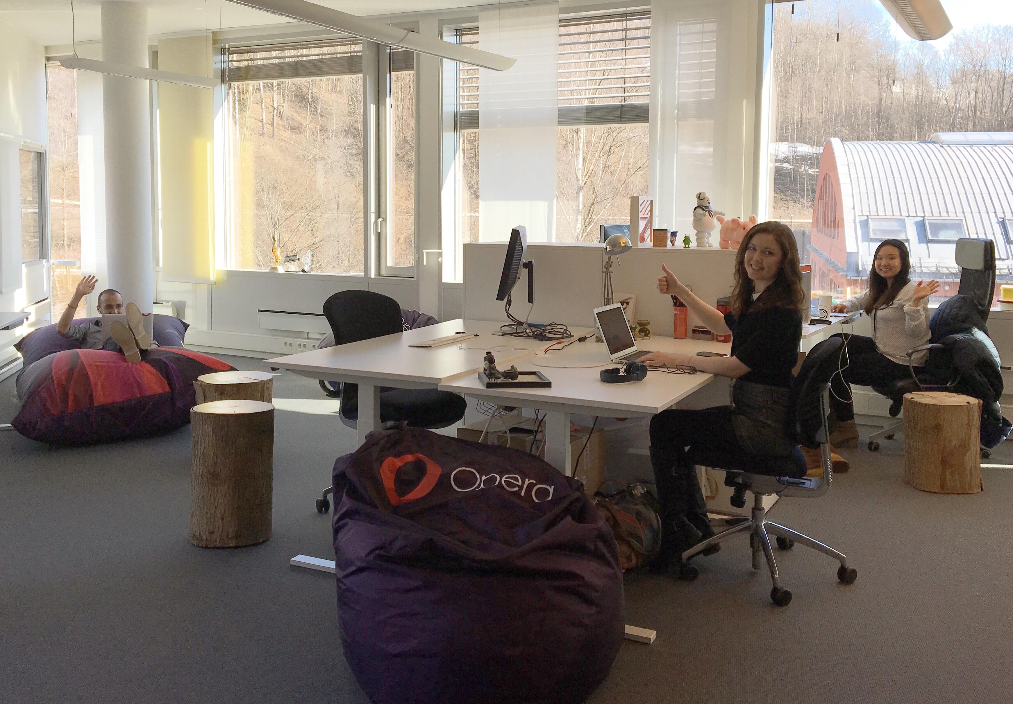 Opera software browser team social media customer service Oslo office Ruth Angela