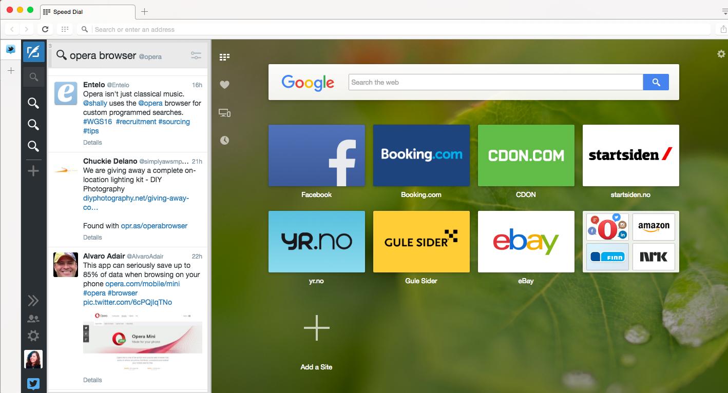Tweetdeck Twitter web app browser Opera sidebar alternative multitask
