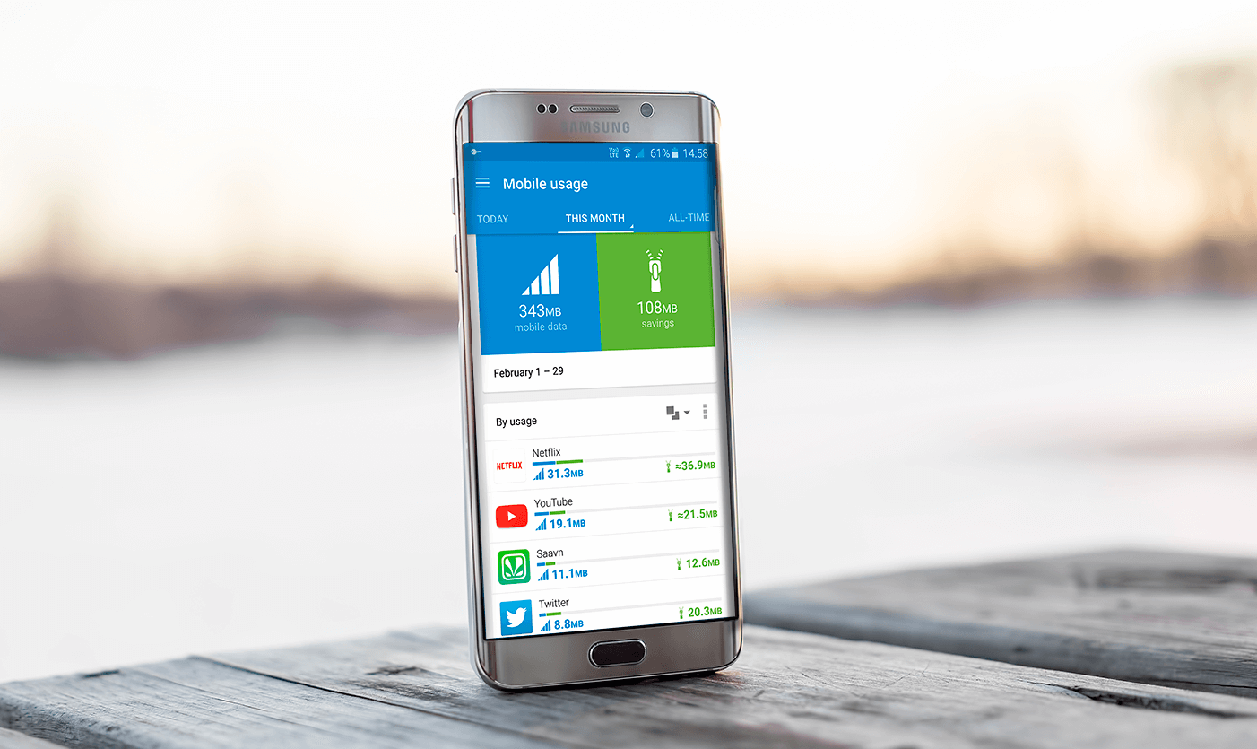 Android travel apps with Opera Max