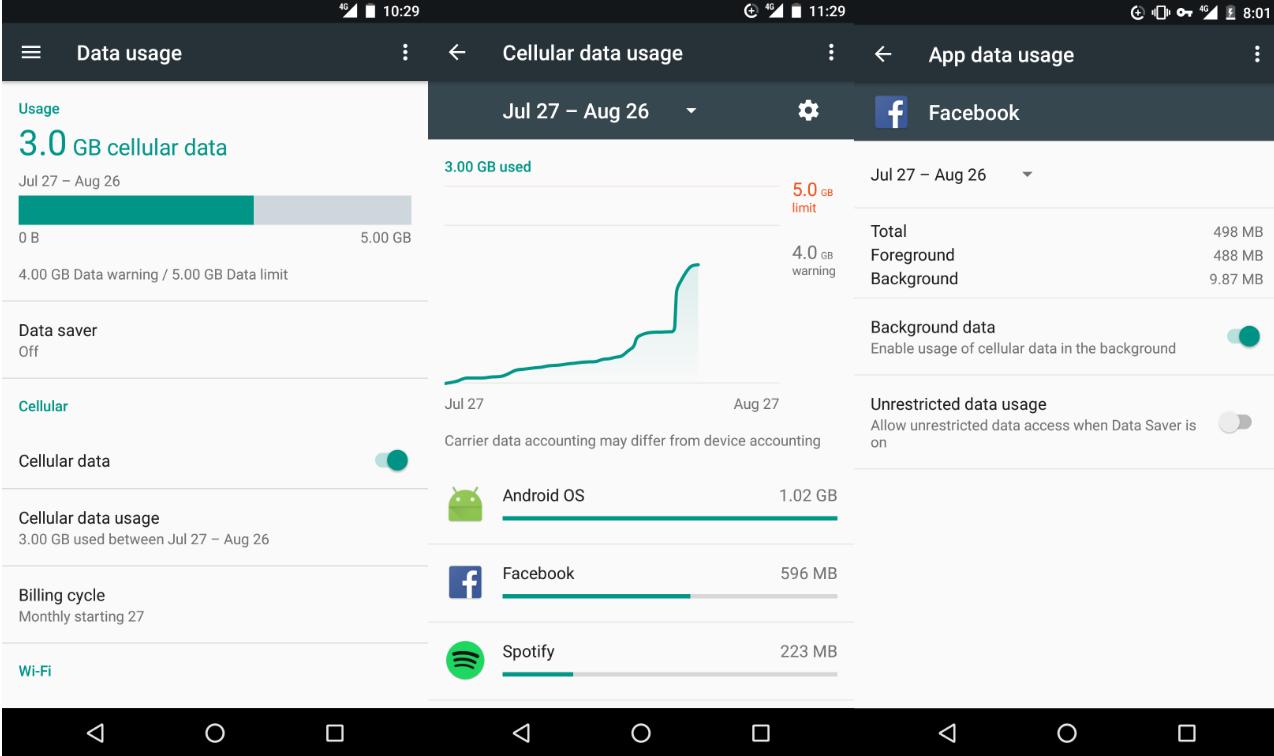 Android Nougat Data Saver