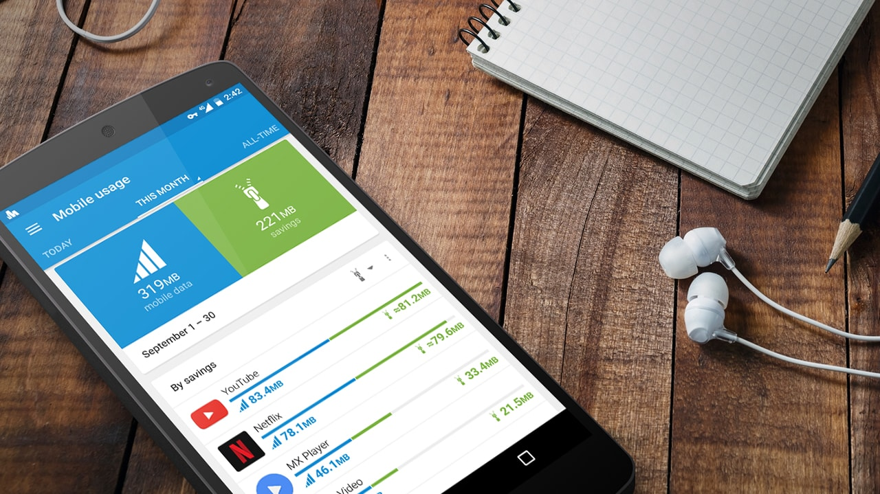 Data savings on video apps with Opera Max