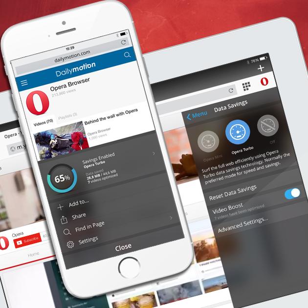 Video boost in Opera Mini for iOS