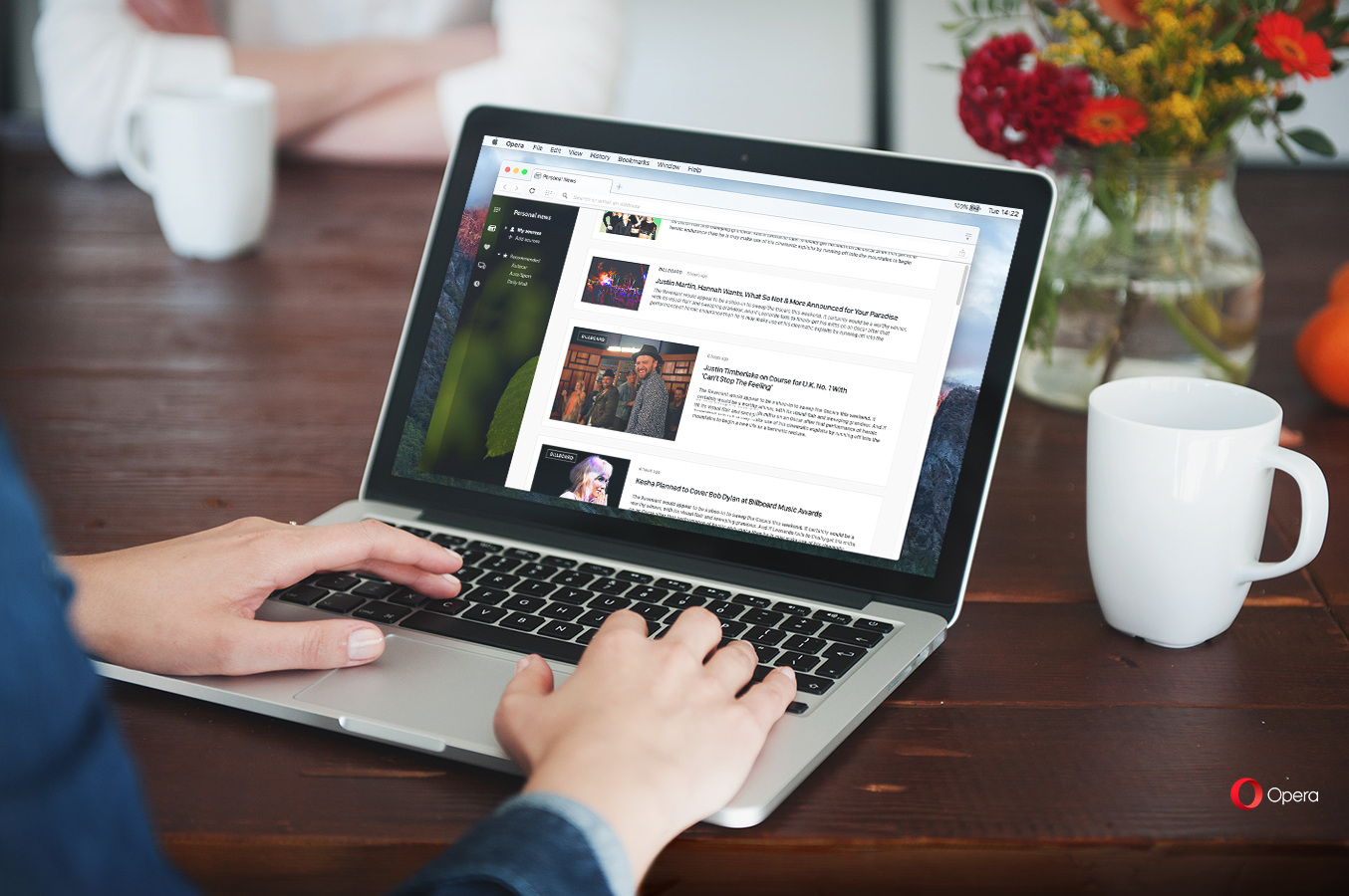 RSS reader in the Opera browser to follow news