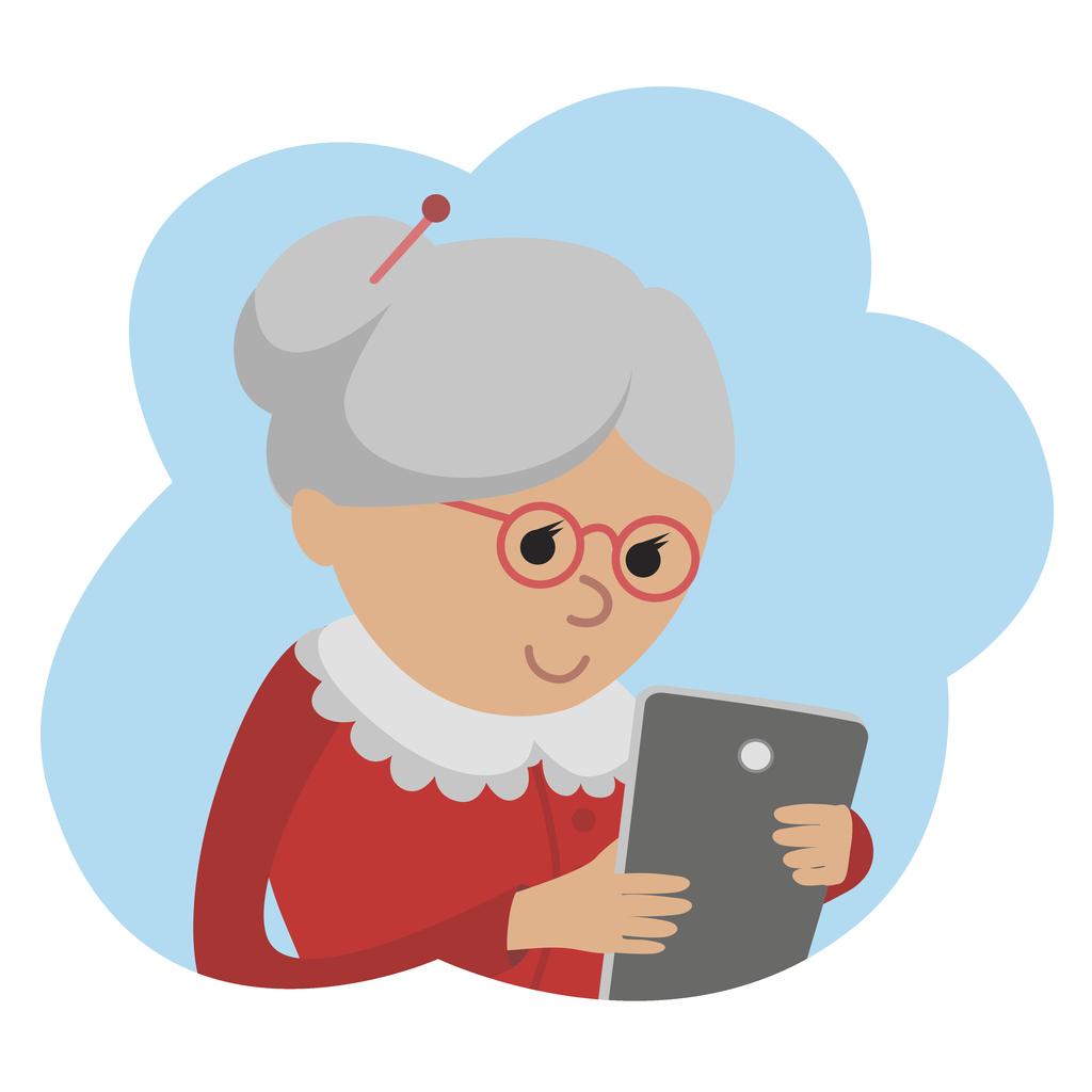 Grandma video calling to check on you for Christmas