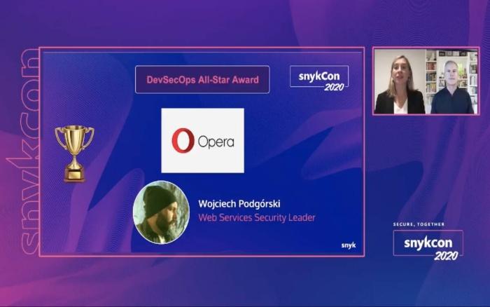 Opera at SnykCon2020 gets DevSecOps Award
