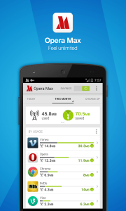 Opera Max - saving data