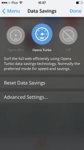データ圧縮の完了ボタン