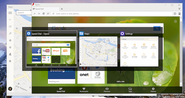 Windows 10 Preview touch apps