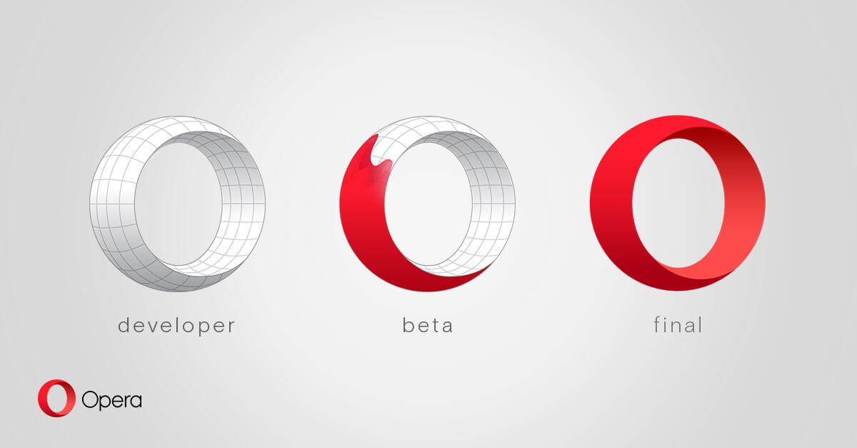 Opera 新アイコン 3 種