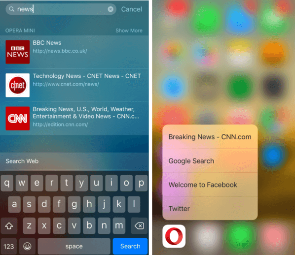 Opera Mini for iOS