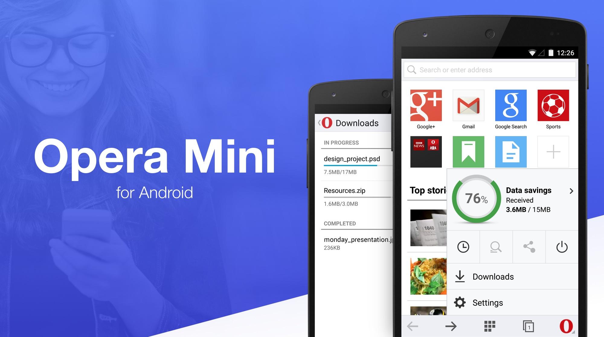 Полностью обновленная Opera Mini для Android