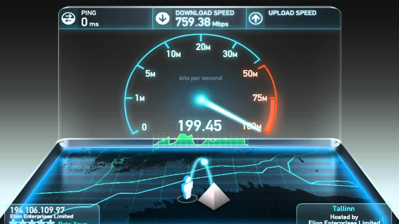 Сервис Speedtest поможет определить скорость интернет-соединения