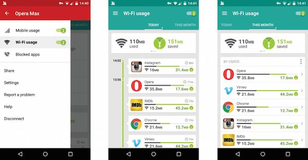 Controla tus apps con Opera Max