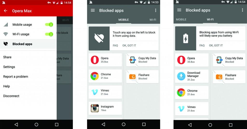 Controla tus apps con Opera Max2