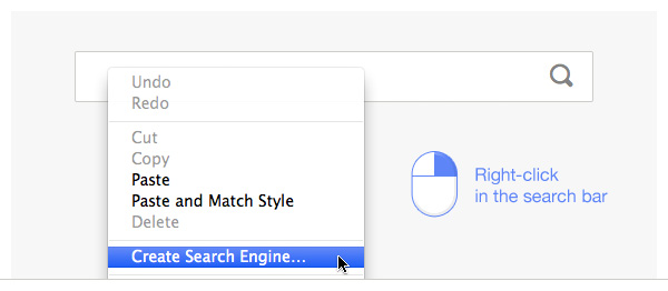 Right click in the search bar and choose Create Search Engine