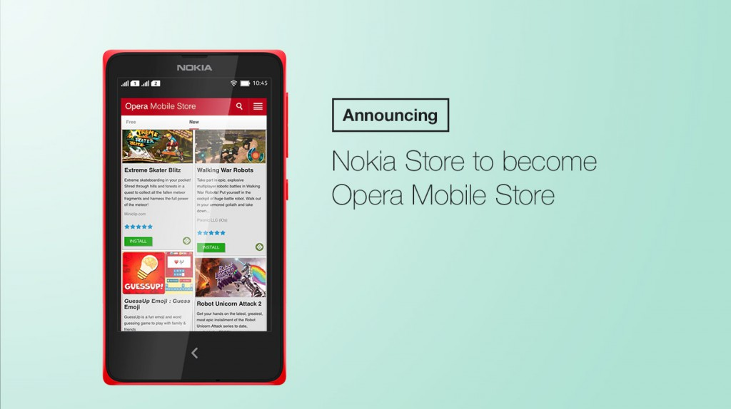 Nokia store becomes Opera mobile store