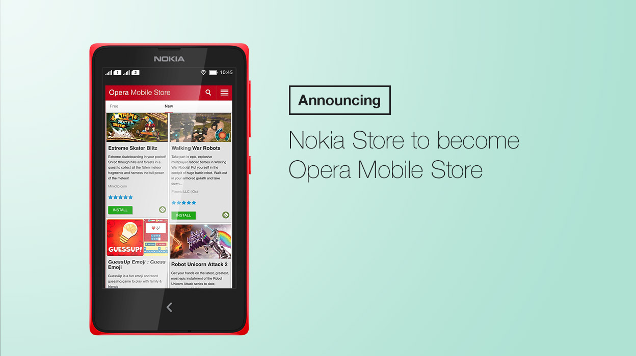 Nokia Store to become Opera Mobile Store - Blog | Opera News