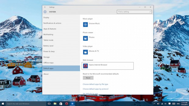 How to set Opera as the default browser on Windows 10
