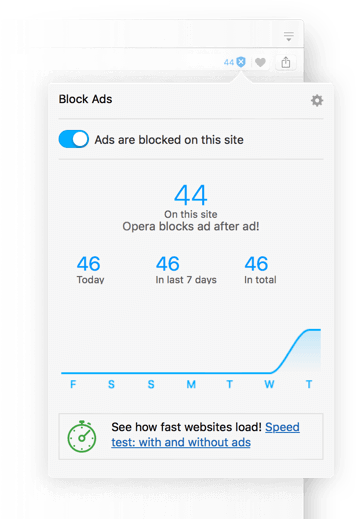Ad blocker turned on in opera browser