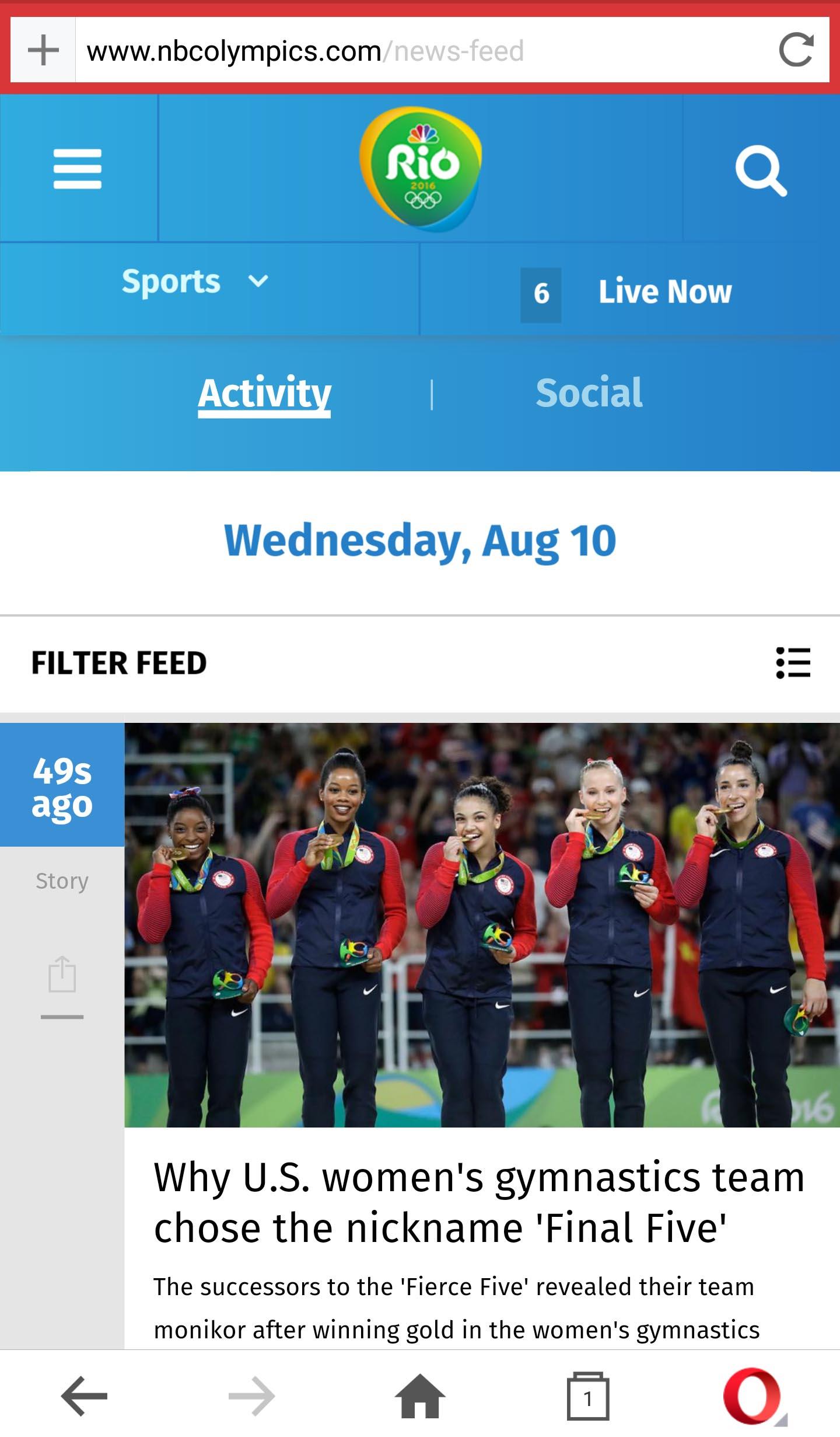 image: Rio games live news