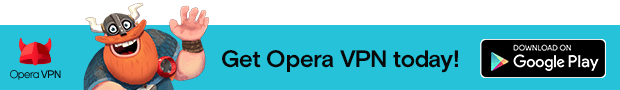 Link to get Opera VPN, free and unlimited VPN app for Android, in Google Play