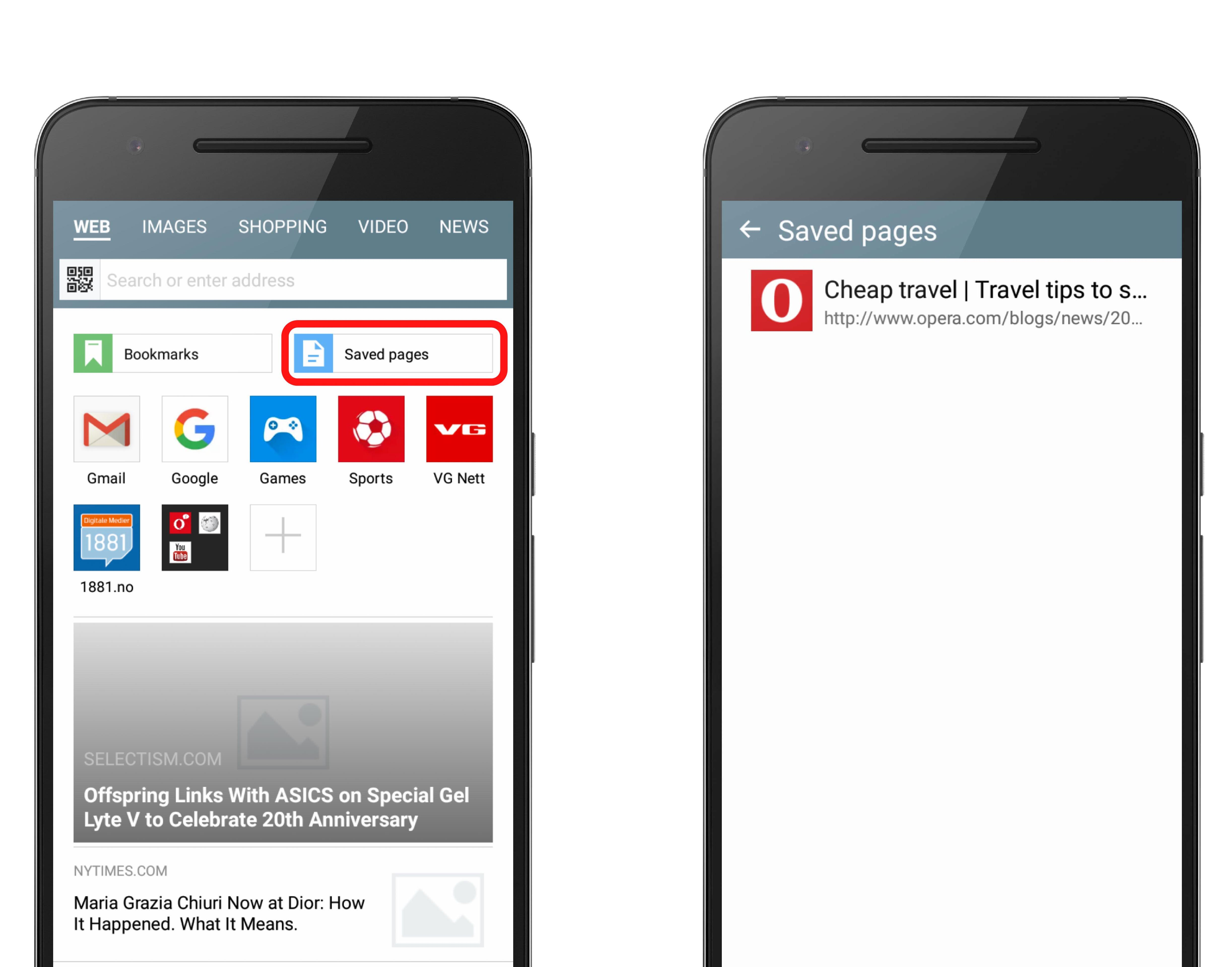 Save bookmarks | 4 ways to save sites in Opera Mini - Blog