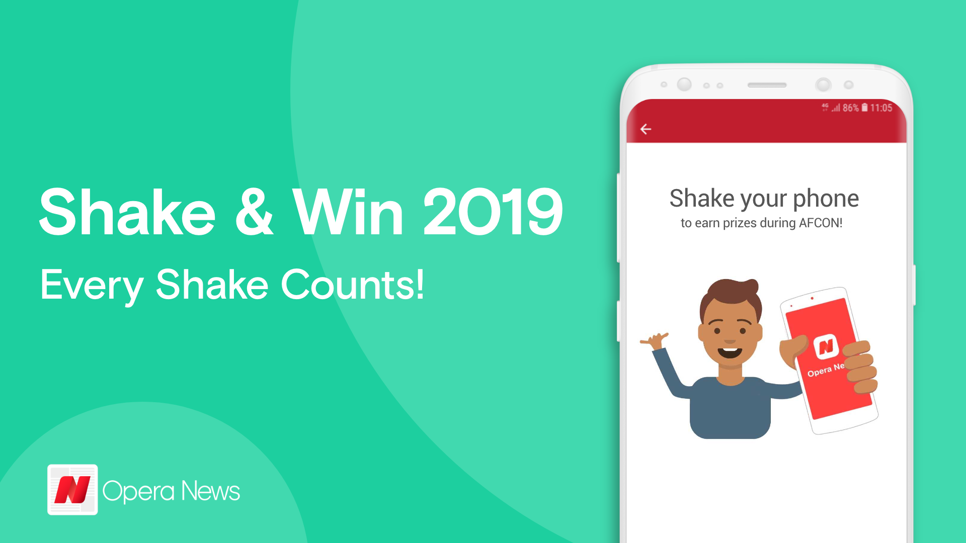 Shake and Win is back in Opera News with over 200 million