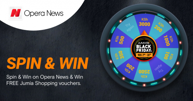 Download Opera News and become a winner with Spin & Win as we get