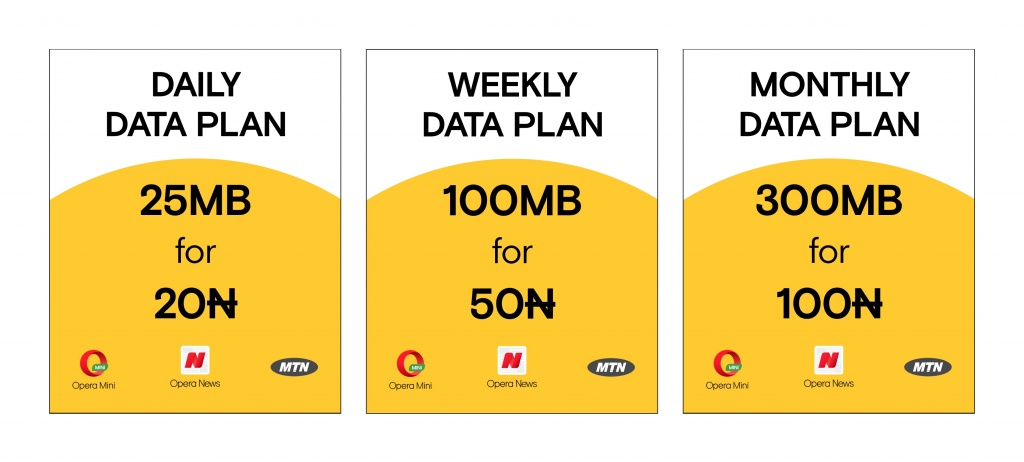 MTN partners with Opera, you can now get 300MB for N100