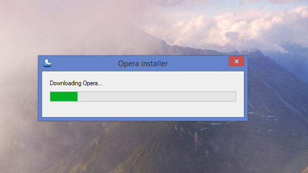 Opera network installer downloading the latest version
