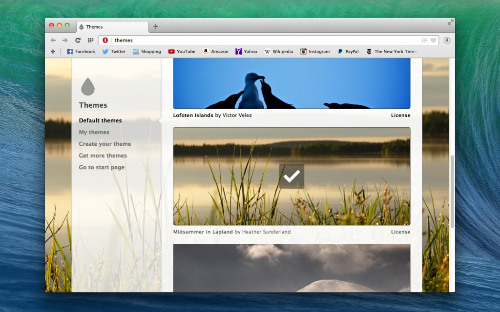 Opera 22 for Windows and Mac released today, with new themes and