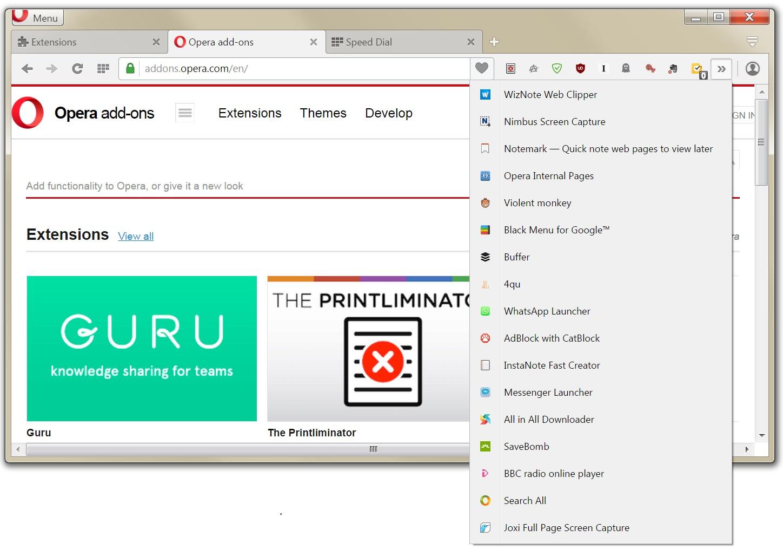 Extension toolbar expander