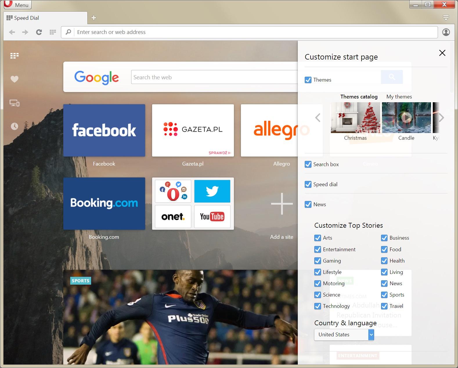 Merged startpage with customization