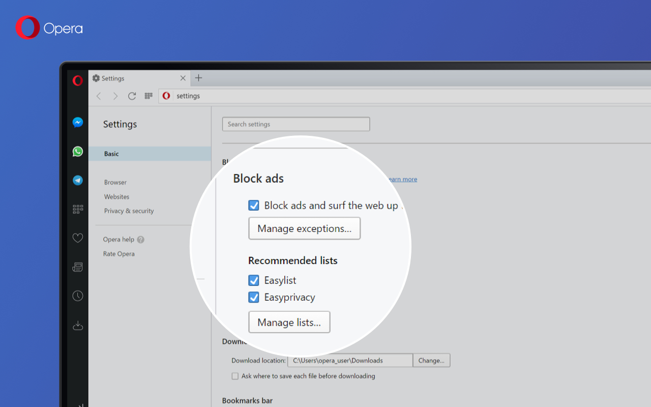Opera 45 with Reborn goes beta - Blog   Opera Desktop