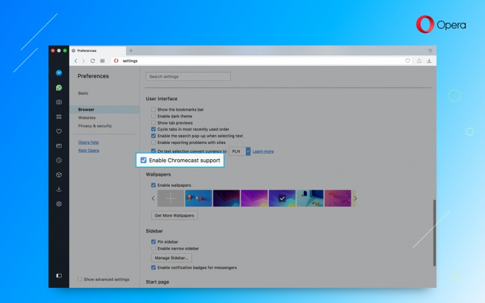 Opera Developer update with Chromecast support - Blog | Opera Desktop
