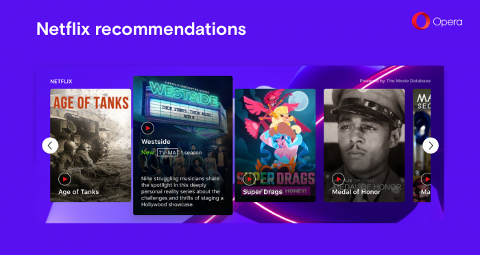 Opera 57 with smarter news and Netflix recommendations