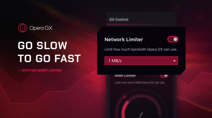 Opera GX introduces the Network Limiter