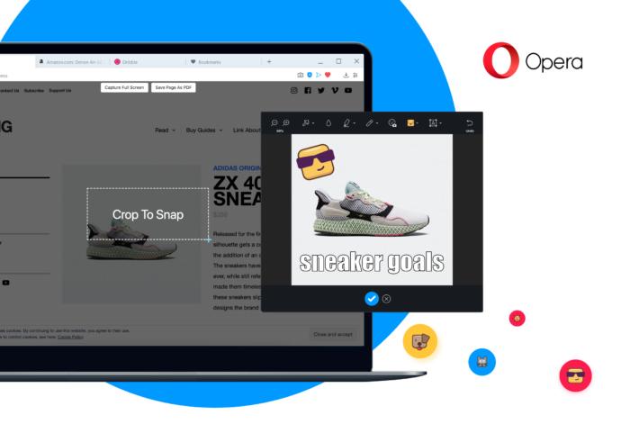 Snapshot-Tool für Screenshots im Opera-Browser.