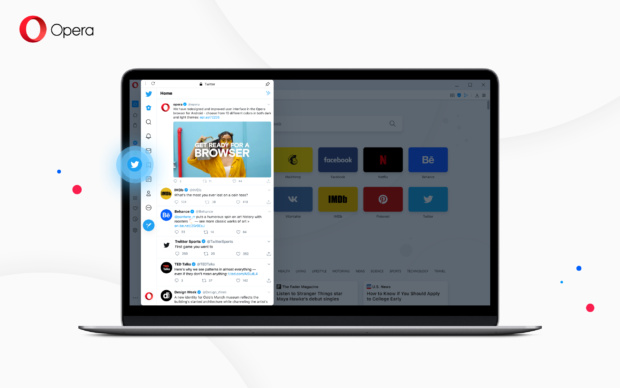 Opera 69 with built in Twitter
