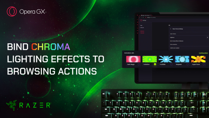 Opera GX with Razer Chroma RGB Lighting Effects
