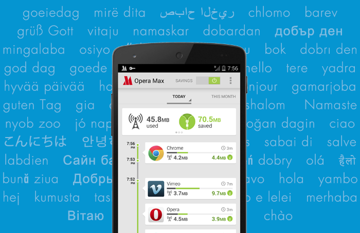 Opera Max saves you data on your Android phone