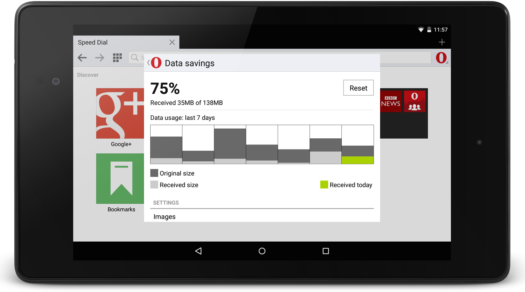 How much can you save with Opera Mini for Android beta?