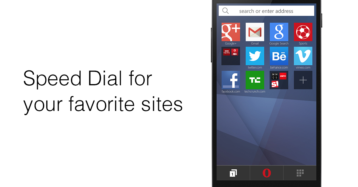Opera Mini is here for your Windows Phone!