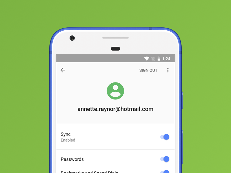 Opera for Android 47 synchronise your mobile with your computer