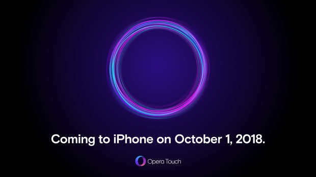 Opera Touch for iPhone is coming on Oct 1